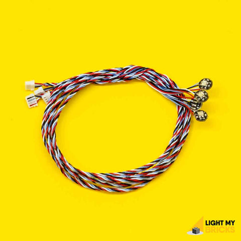RGB Bit Lights (30cm 4pack) - LEGO  Components - Elegant Bricks