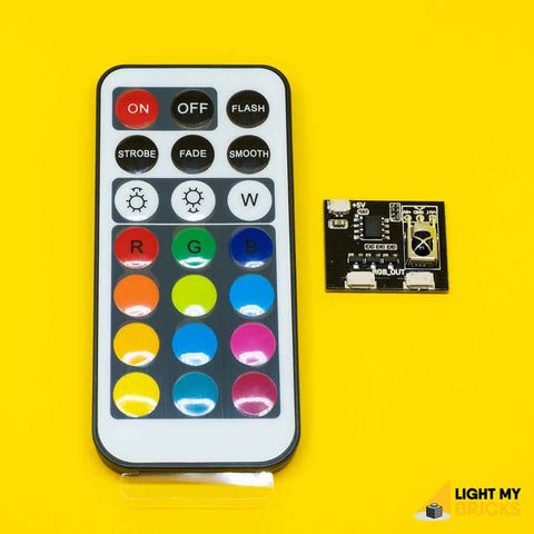 RGB IR Board and Remote Control - LEGO  Components - Elegant Bricks