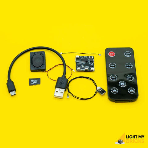 Remote Control & Sound Kit - LEGO  Components - Elegant Bricks
