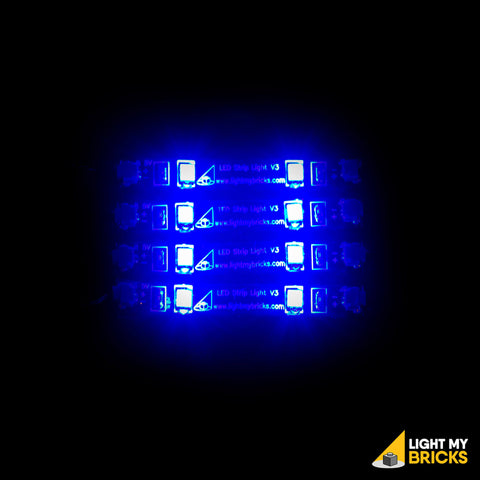 LED Strip Lights - Blue (4 Pack) - LEGO  Components - Elegant Bricks