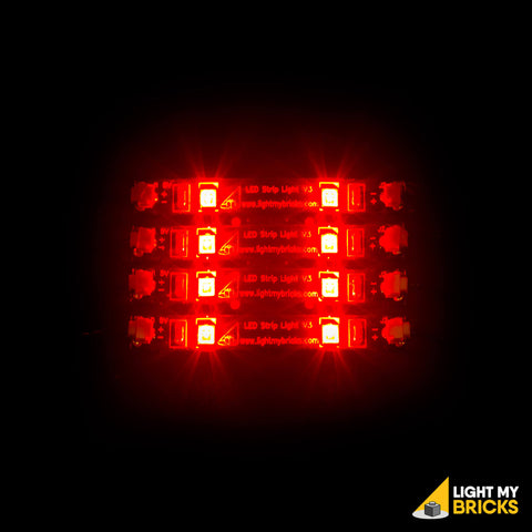 LED Strip Lights - Red (4 Pack) - LEGO  Components - Elegant Bricks