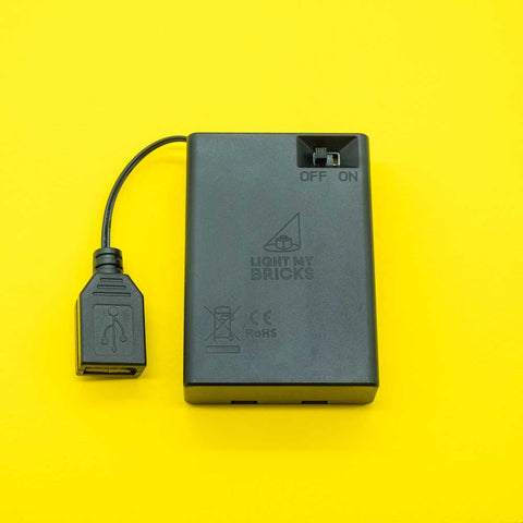 USB to AA Battery Pack - Elegant Bricks Limited