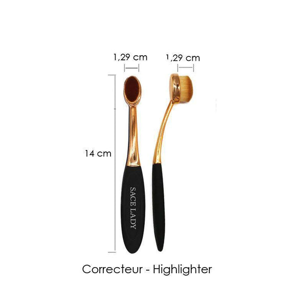 Wapeetee Set de 3 brosses maquillage