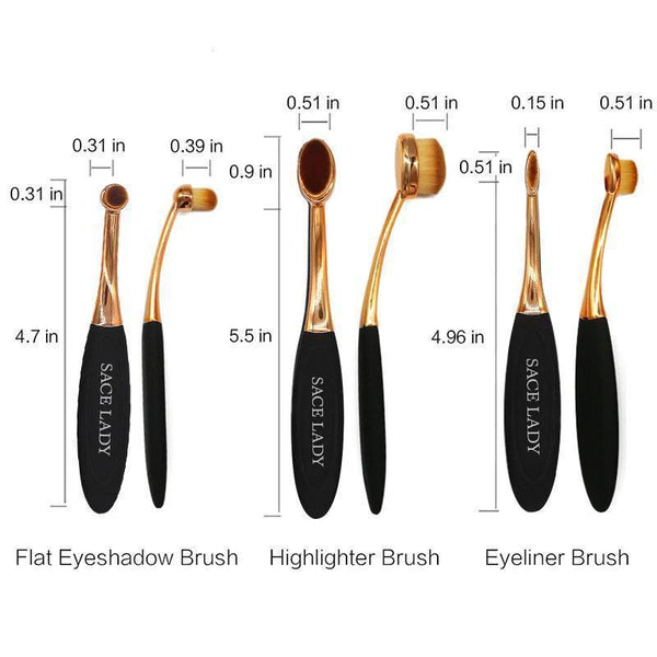 Wapeetee Set de 5 brosses maquillage