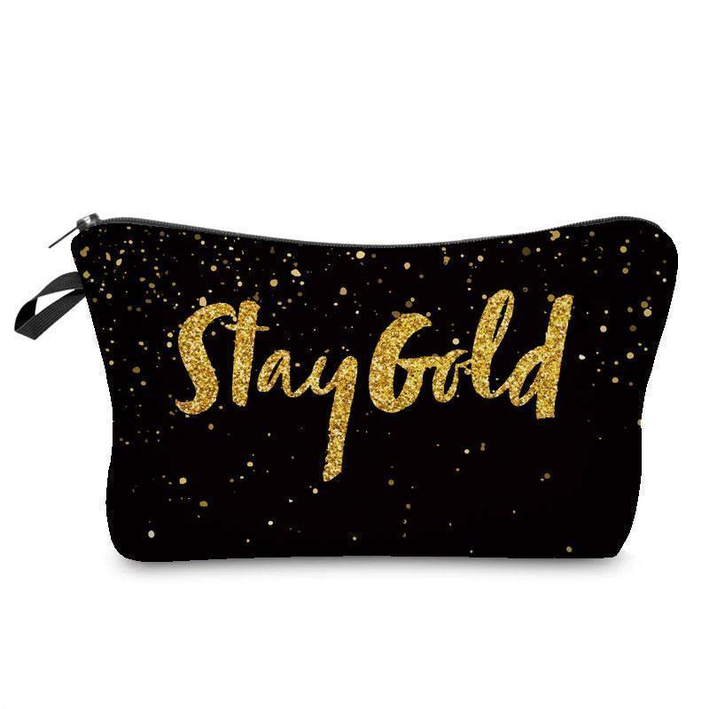 wapeetee Trousse à maquillage Stay Gold