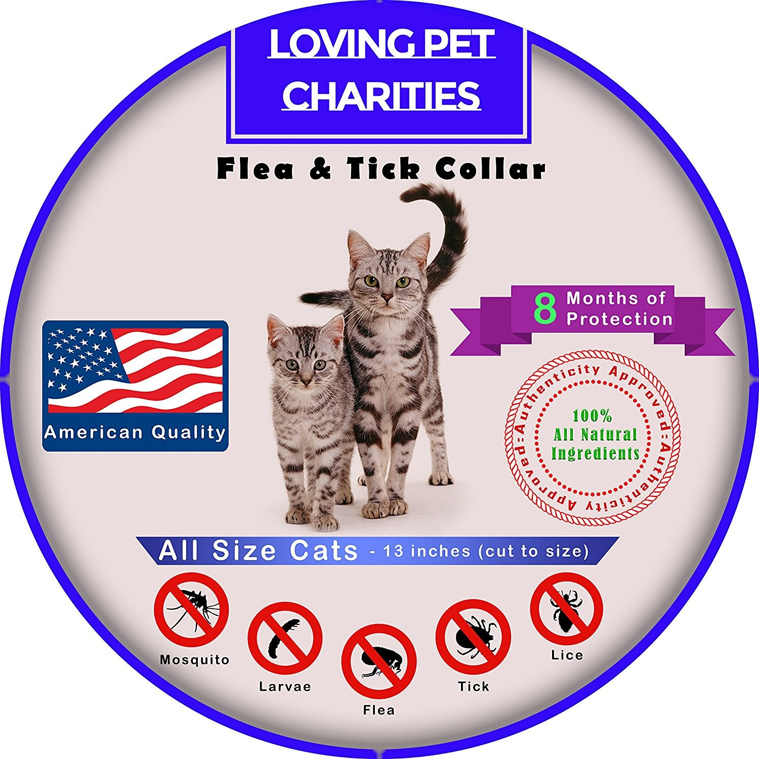Value Pack! 2 All Natural Flea & Tick Collar for Cats