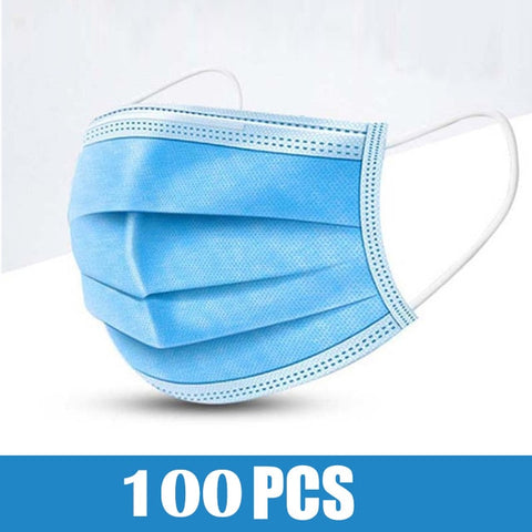 Face Mask Disposable Masks 3-layer Non-Woven Dust-Dust Masks Mouth Filter Breathable Protective Mask In Stock Free Shipping