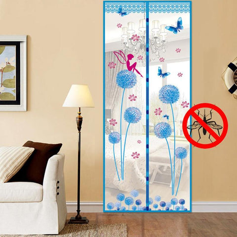 Hands Free Magnetic Door Mosquito Net Anti-Mosquito Door Screen Yarn  Curtain Mesh Home Decor