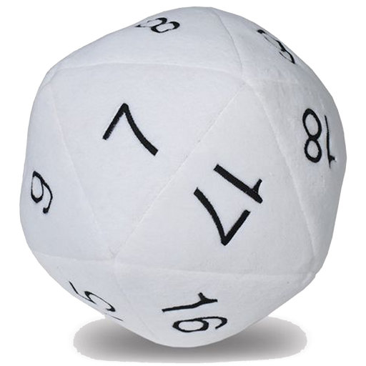 D20 Jumbo Plush die (White)