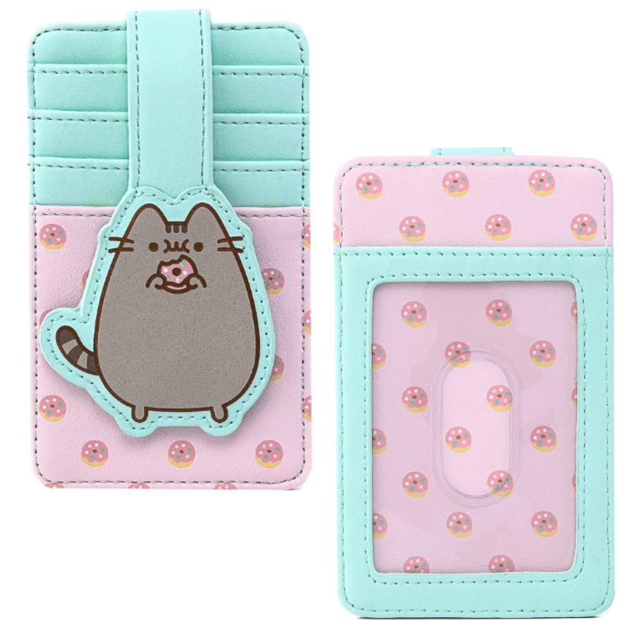 PUSHEEN SNACKIES AOP FLAP WALLET X LOUNGEFLY