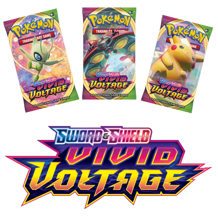 Pokemon TCG - Vivid Voltage Pokemon: Sword and Shield - Blister Packs