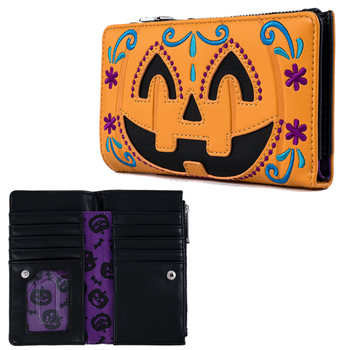 HALLOWEEN PUMPKIN FLAP WALLET X LOUNGEFLY