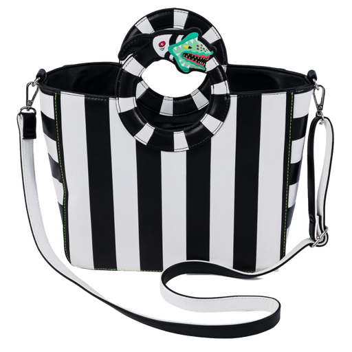 BEETLEJUICE SANDWORM HANDLE CROSS BODY BAG - LOUNGEFLY X