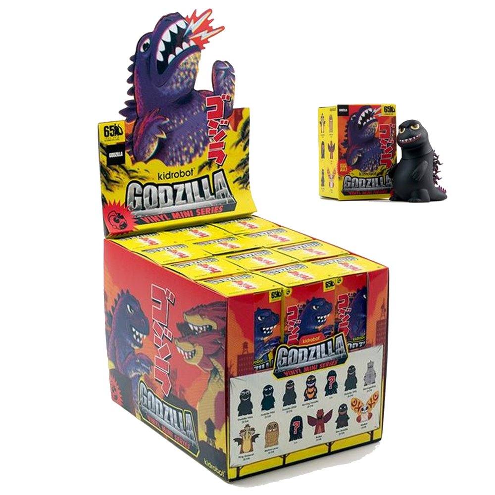 GODZILLA KING OF THE MONSTERS MINI FIGURE SERIES - BY KIDROBOT