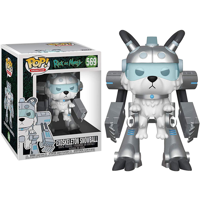 "Exoskeleton Snowball: Rick and Morty Animation Pop! - 6"" Super Sized"