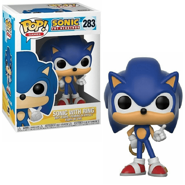 Sonic with Ring -Sonic The Hedgehog: Funko POP! VINYL