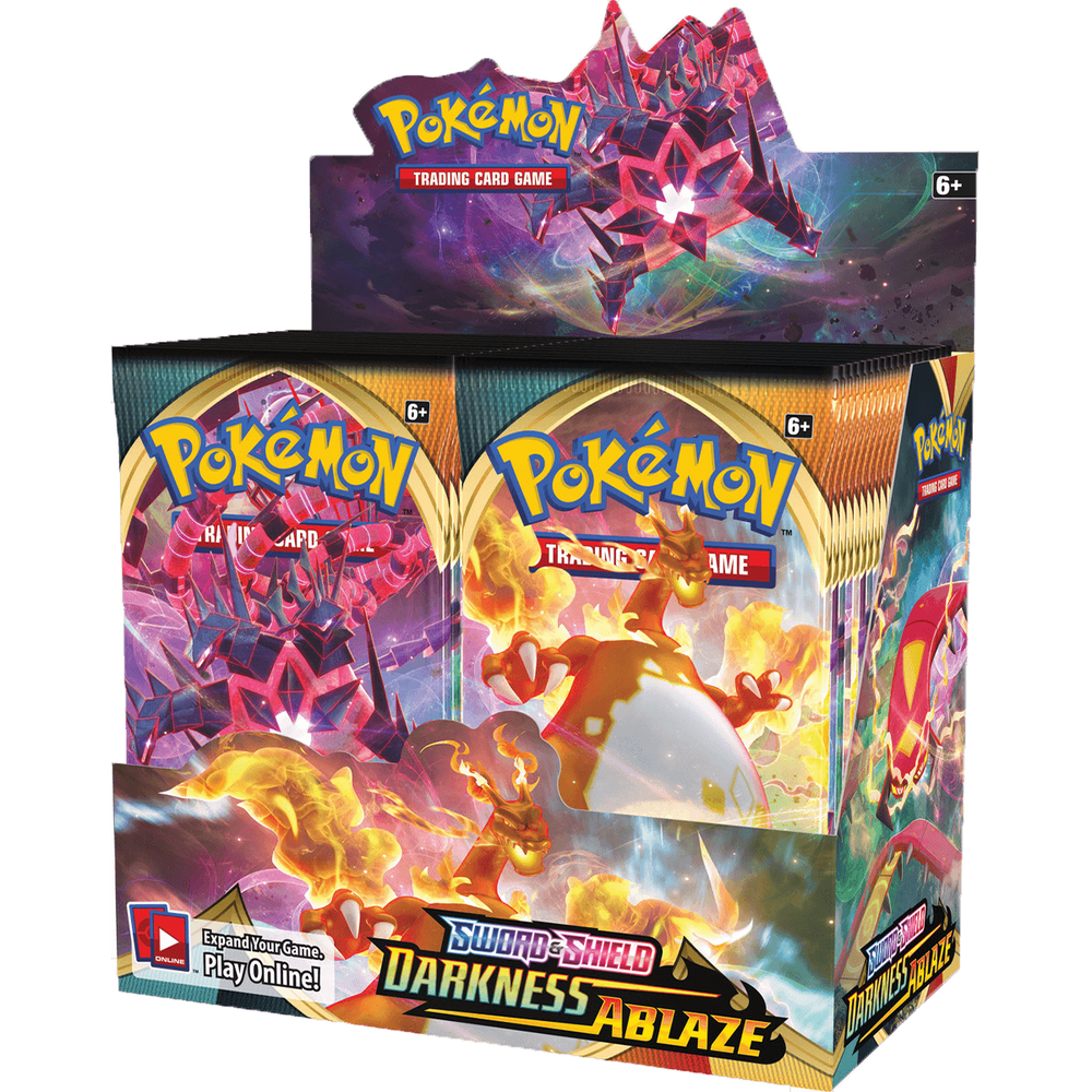 Pokemon TCG (Sword and Shield) Darkness Ablaze, 36 Pack Booster Box