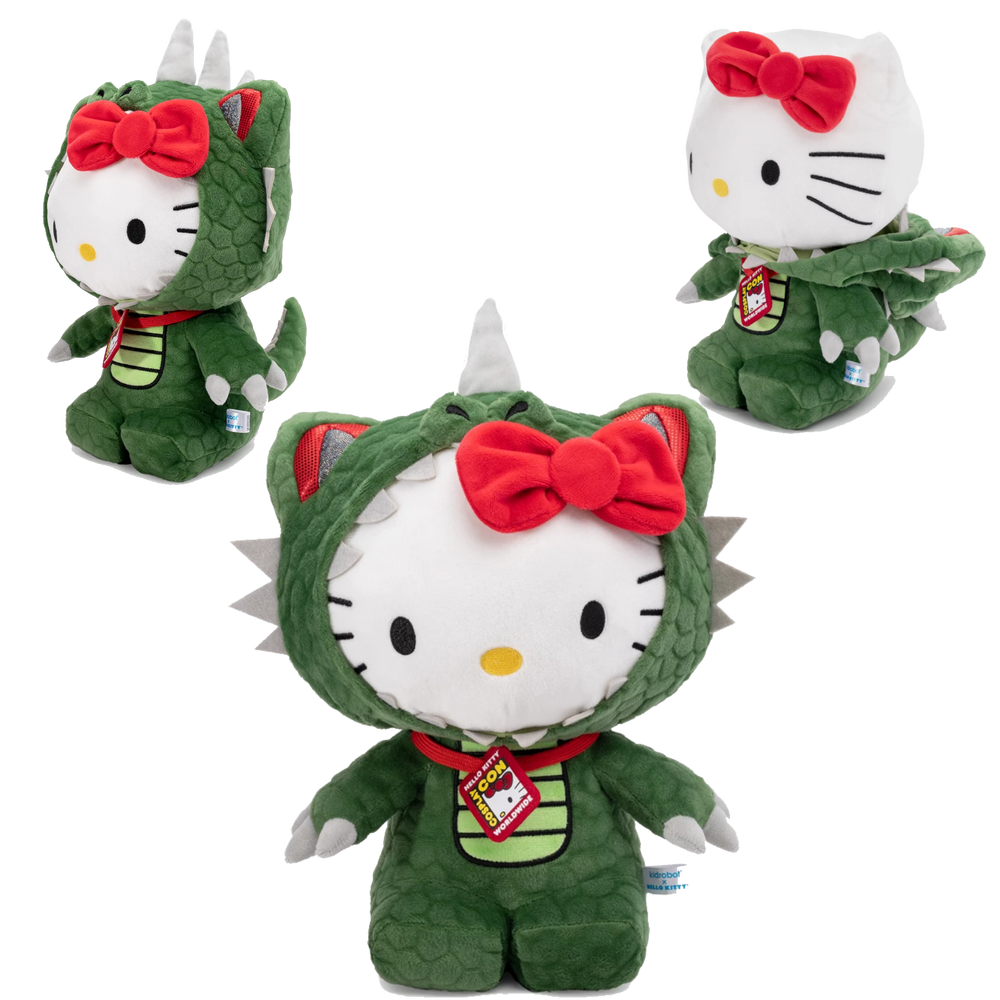 HELLO KITTY KAIJU DINOSAUR COSPLAY PLUSH BY KIDROBOT X SANRIO