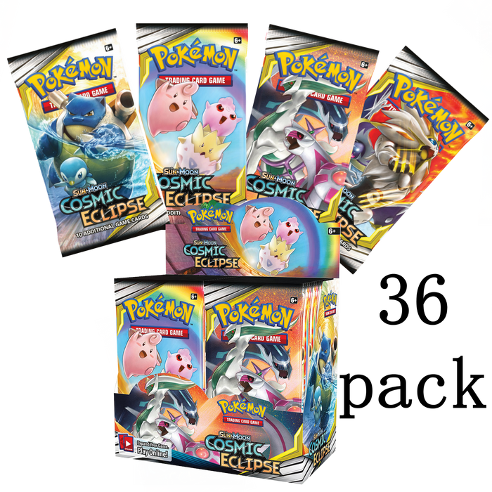 Pokemon TCG (Sun and Moon) Cosmic Eclipse, 36 Pack Booster Box