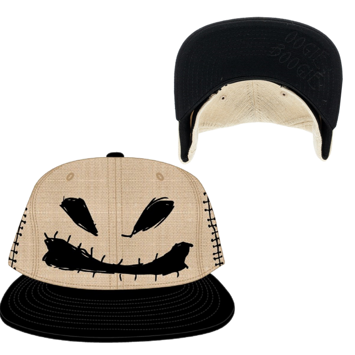 Oogie Boogie Big Face Snapback Hat - Disney Nightmare Before Christmas - Bioworld