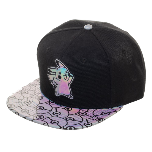 (COMING SOON!) Pikachu Iridescent Snapback Hat - Bioworld