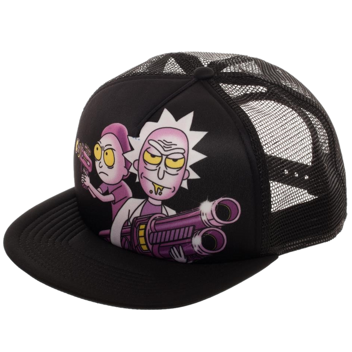 Rick and Morty Sublimated Trucker hat - Bioworld