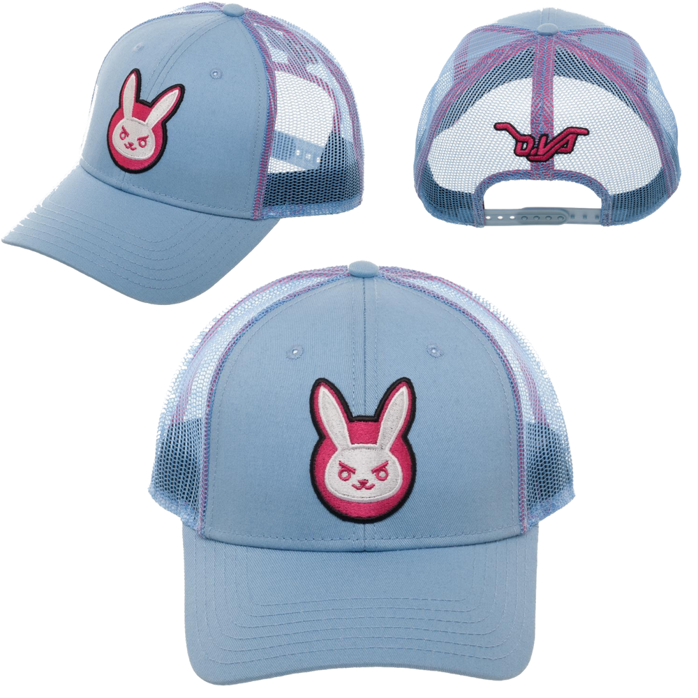Overwatch D.Va Meshback Adjustable Cap - Bioworld