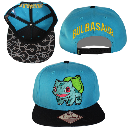 Bioworld Licensed Pokemon - Bulbasaur Snapback Hat