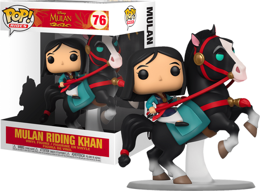 Mulan with Khan: Mulan - Pop! Rides Vinyl Figure