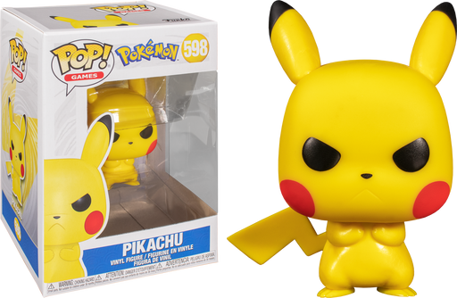 Pikachu (grumpy) Pop! - Pokemon Vinyl Figure #598