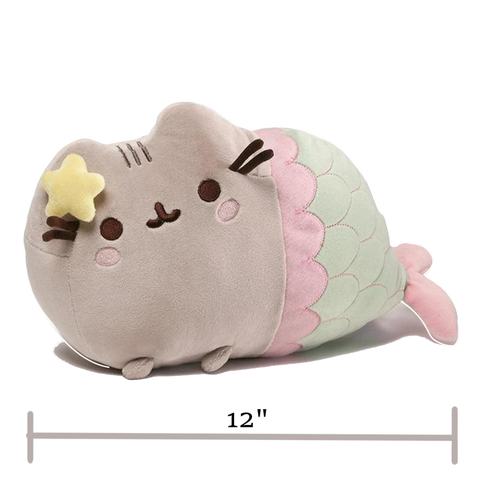 "Pusheen Mermaid with Star, 12"" - Pusheen"