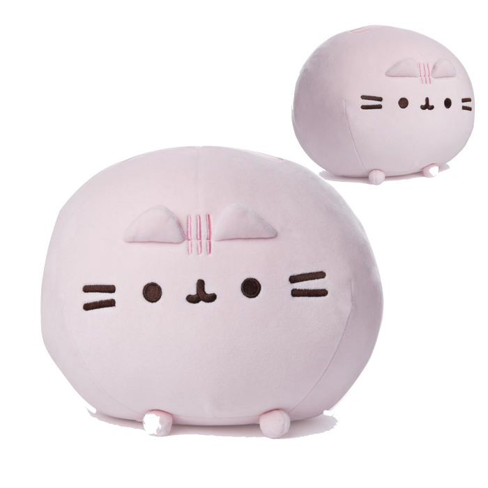 PINK ROUND PUSHEEN SQUISHEEN, 11 IN - Pusheen