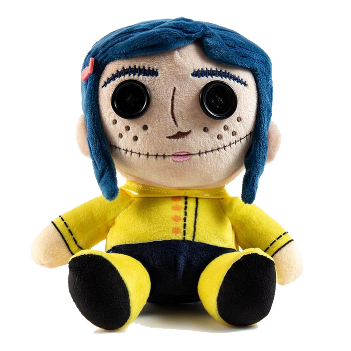 CORALINE WITH BUTTON EYES PHUNNY PLUSH BY KIDROBOT