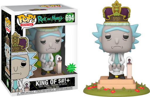 "King of $#!+ with Sound - Rick and Morty Animation Pop! 6"" Super Sized"
