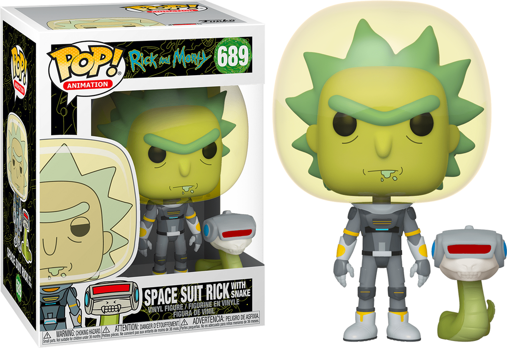 Rick in Space Suit with Snake - Rick and Morty Vinyl Figure Funko Pop!