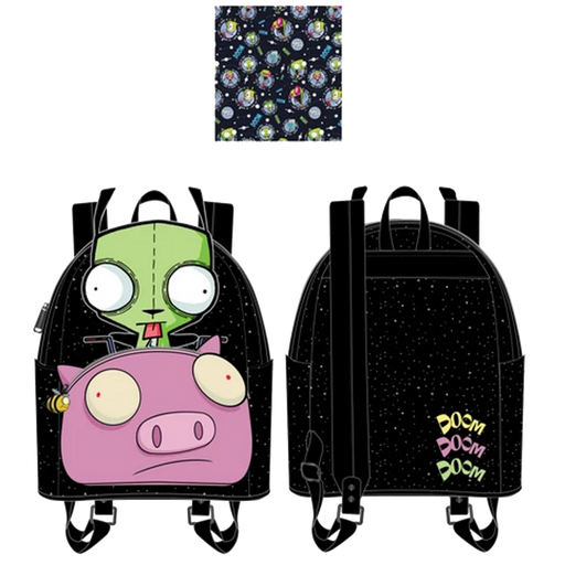 Invader Zim Gir Pig Doom Mini Backpack by Loungefly