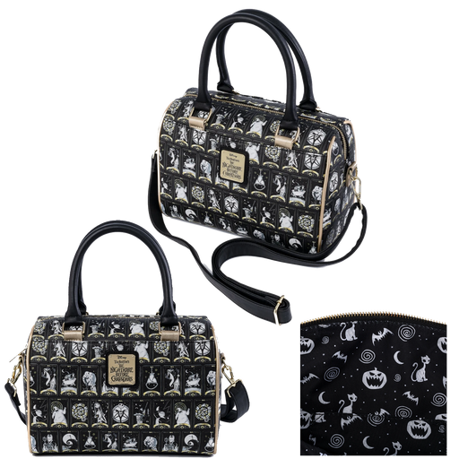 THE NIGHTMARE BEFORE CHRISTMAS TAROT CARD DUFFLE CROSSBODY BAG - LOUNGEFLY X