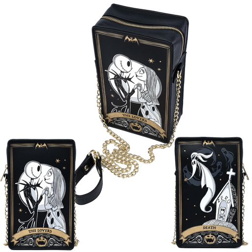 THE NIGHTMARE BEFORE CHRISTMAS TAROT CARD BOX CROSSBODY BAG - LOUNGEFLY X