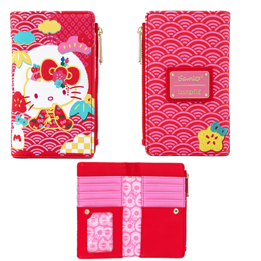 HELLO KITTY - SANRIO 60TH ANNIVERSARY HELLO KITTY FLAP WALLET  X LOUNGEFLY