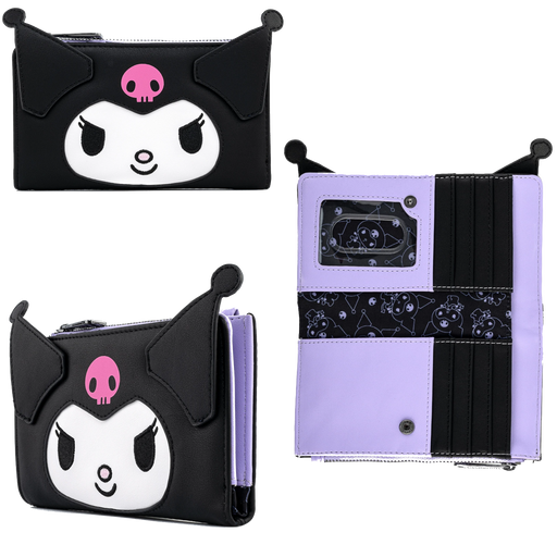 HELLO KITTY - KUROMI COSPLAY FLAP WALLET  X LOUNGEFLY