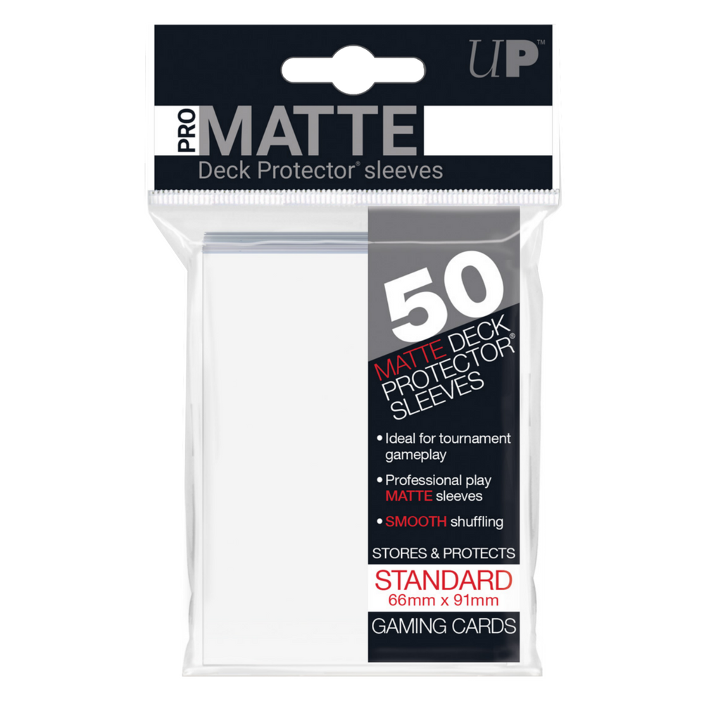 50ct Pro-Matte White Standard Deck Protectors Sleeves