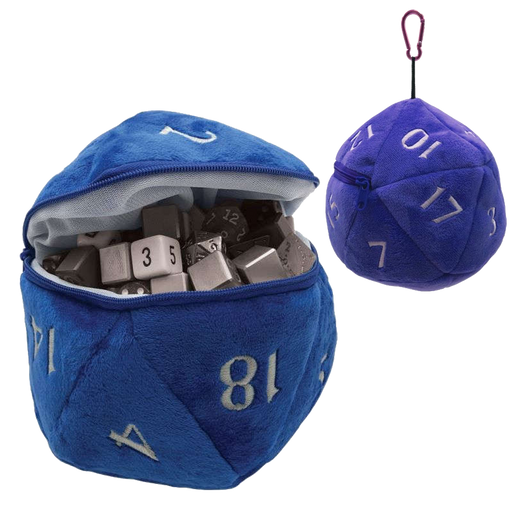 ULTRA PRO: PLUSH D20 DICE BAG: BLUE