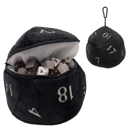 ULTRA PRO: PLUSH D20 DICE BAG: BLACK