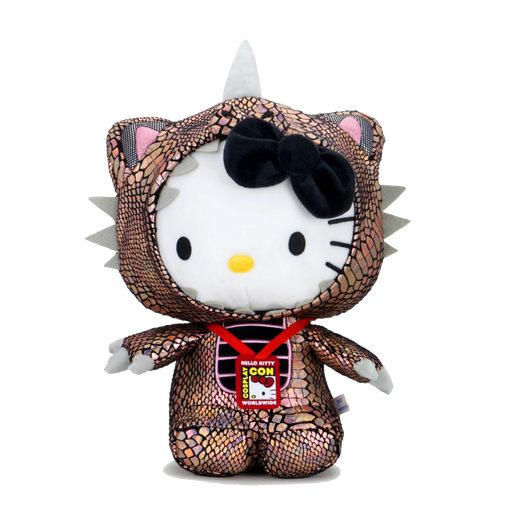 "HELLO KITTY 16"" COSPLAY KAIJU PLUSH- BLACK HOLE CHROM BY KIDROBOT X SANRIO"