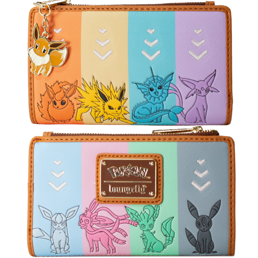 EEVEE EVOLUTIONS  FLAP WALLET :POKEMON - LOUNGEFLY X