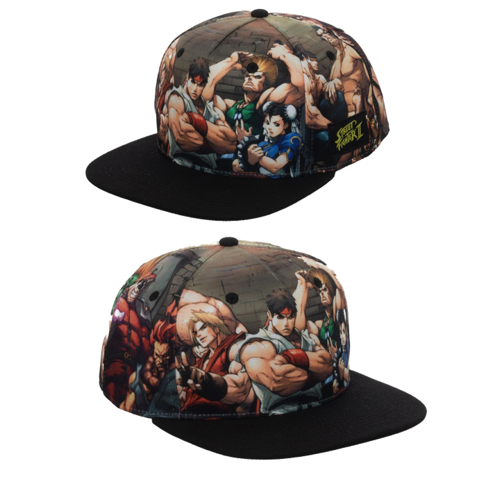 Street Fighter Sublimated Snapback - Bioworld