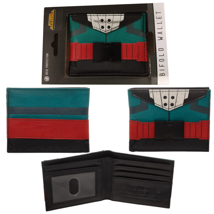 My Hero Academia Izuku Midoriya Suit Up Bi-Fold Wallet - Bioworld