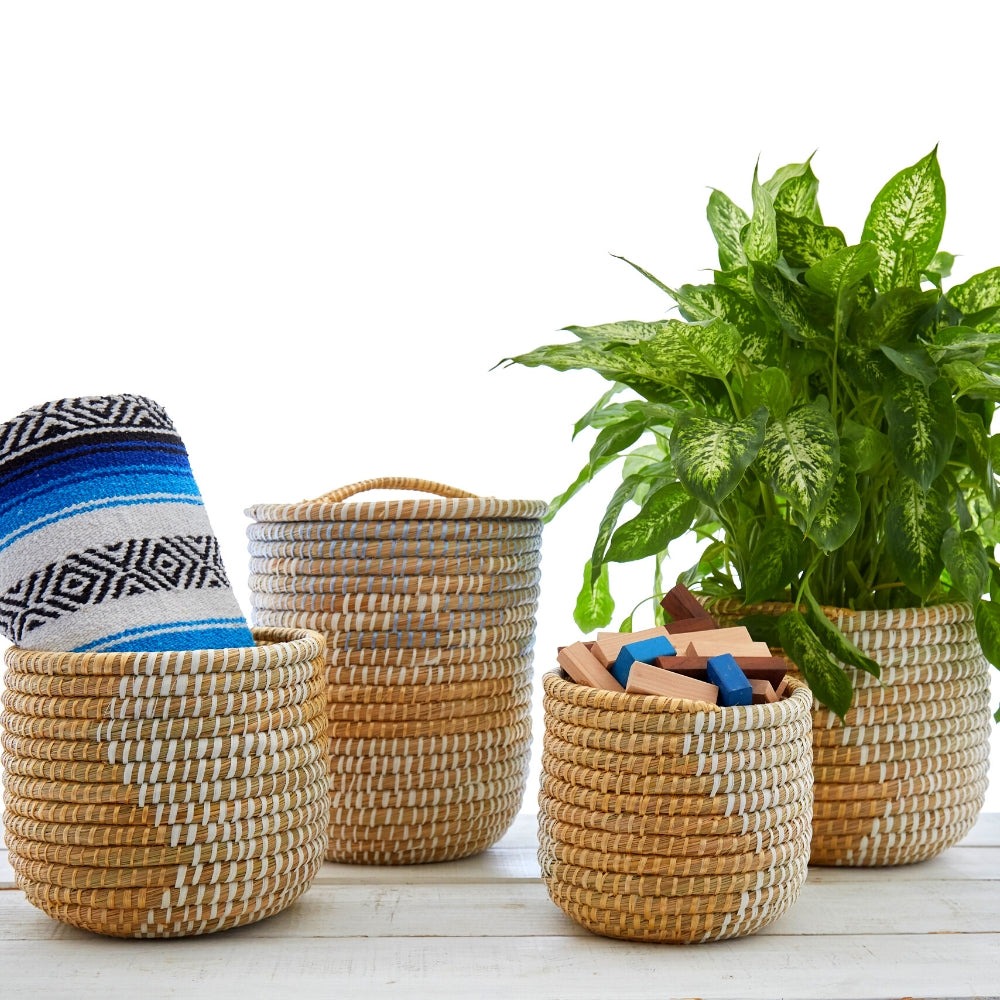 Kaisa Grass and Ribbon Baskets