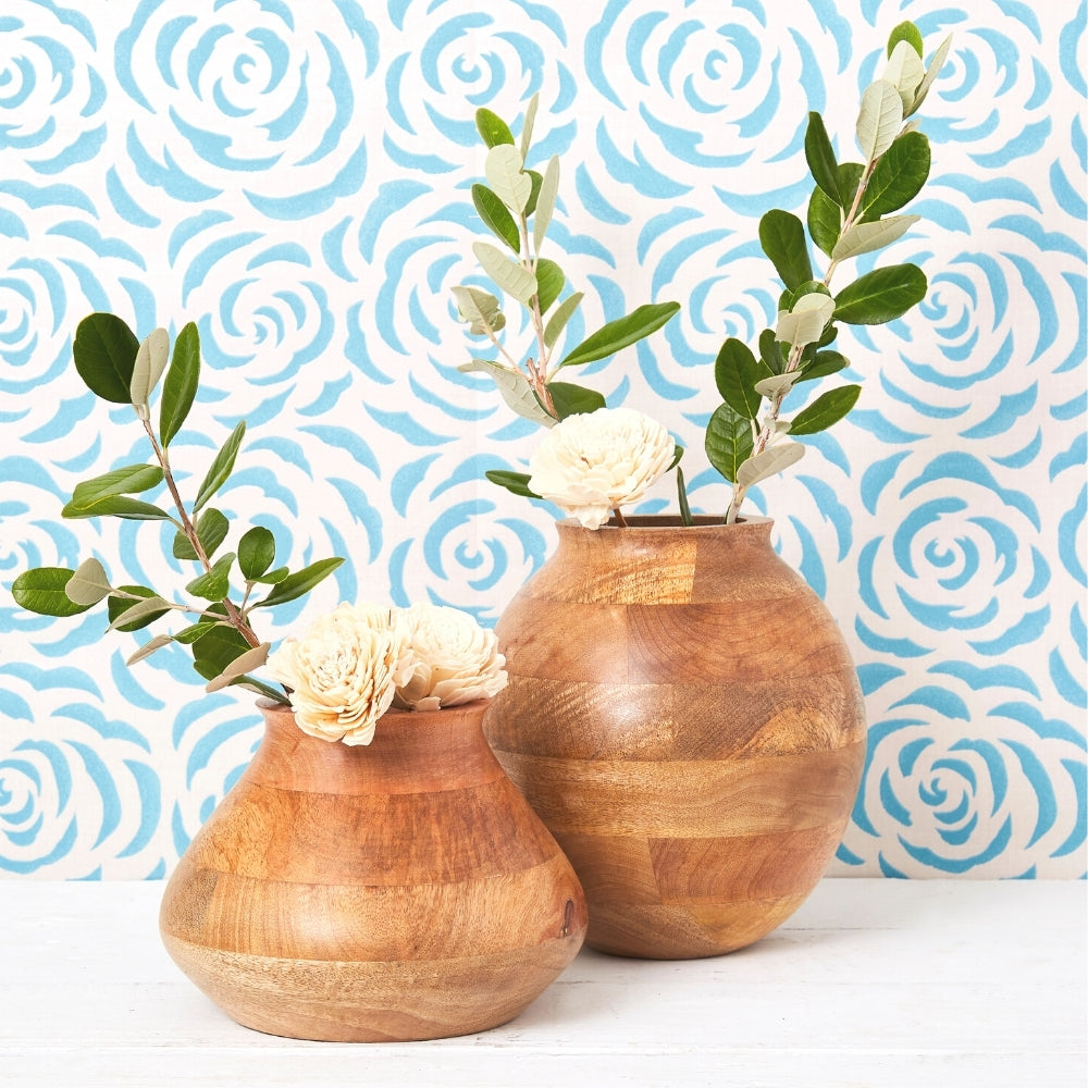 Mango Wood Pot Vases from India.