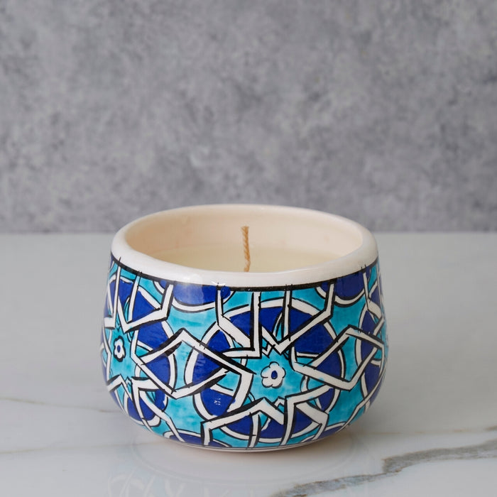 Small Mosaic Ceramic Candle Bowl